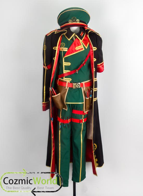 魔法使いと黒猫のウィズ ヴィラム コスプレ衣装 軍服 製作