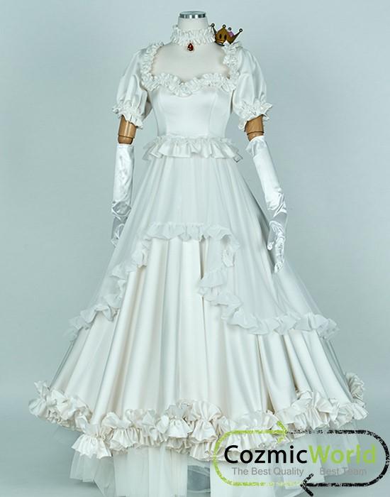 マリシリーズオマリオ キングテレサ姫 ピーチクラウン ピーチ ルイージマンション コスプレ衣装 コスプレ Costume