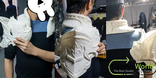 3Dアーマー製作塗装過程 超リアル コスプレ 制作