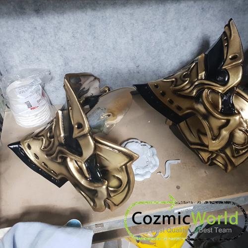 上塗 塗装過程 cosplasy コスプレ衣装 オーダーメイド