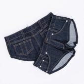 ホットパンツ コスプレ ジーパン パンツ ショートパンツ 紺 ポケットつき オリジナル